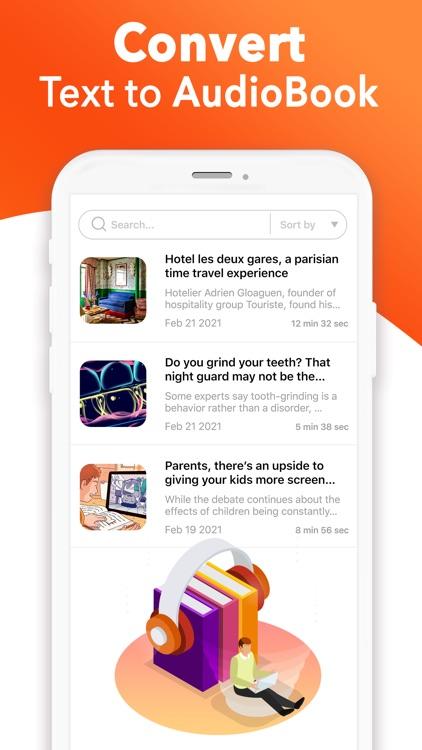 Text To Speech : Audio Books screenshot-3