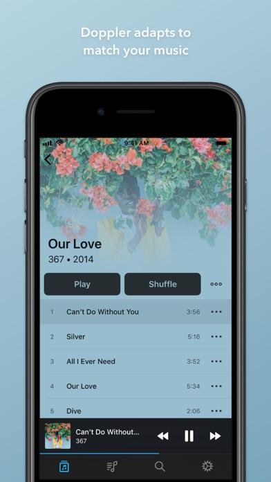 Doppler Music Player Screenshot