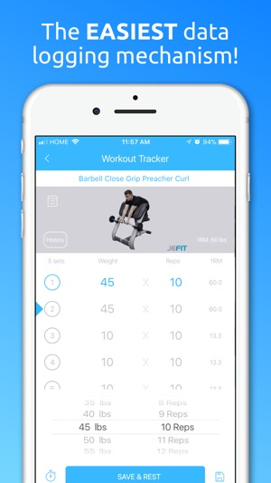 jefit workout planner gym log im app store
