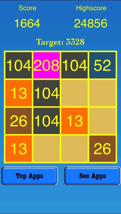 3328 Number Tiles Merge Game screenshot 2