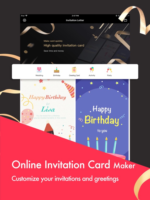 party invitation cards maker app price drops