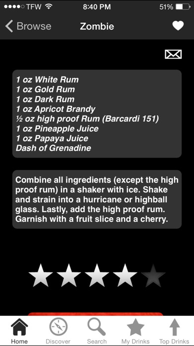 Ibartender Cocktail Recipes review screenshots