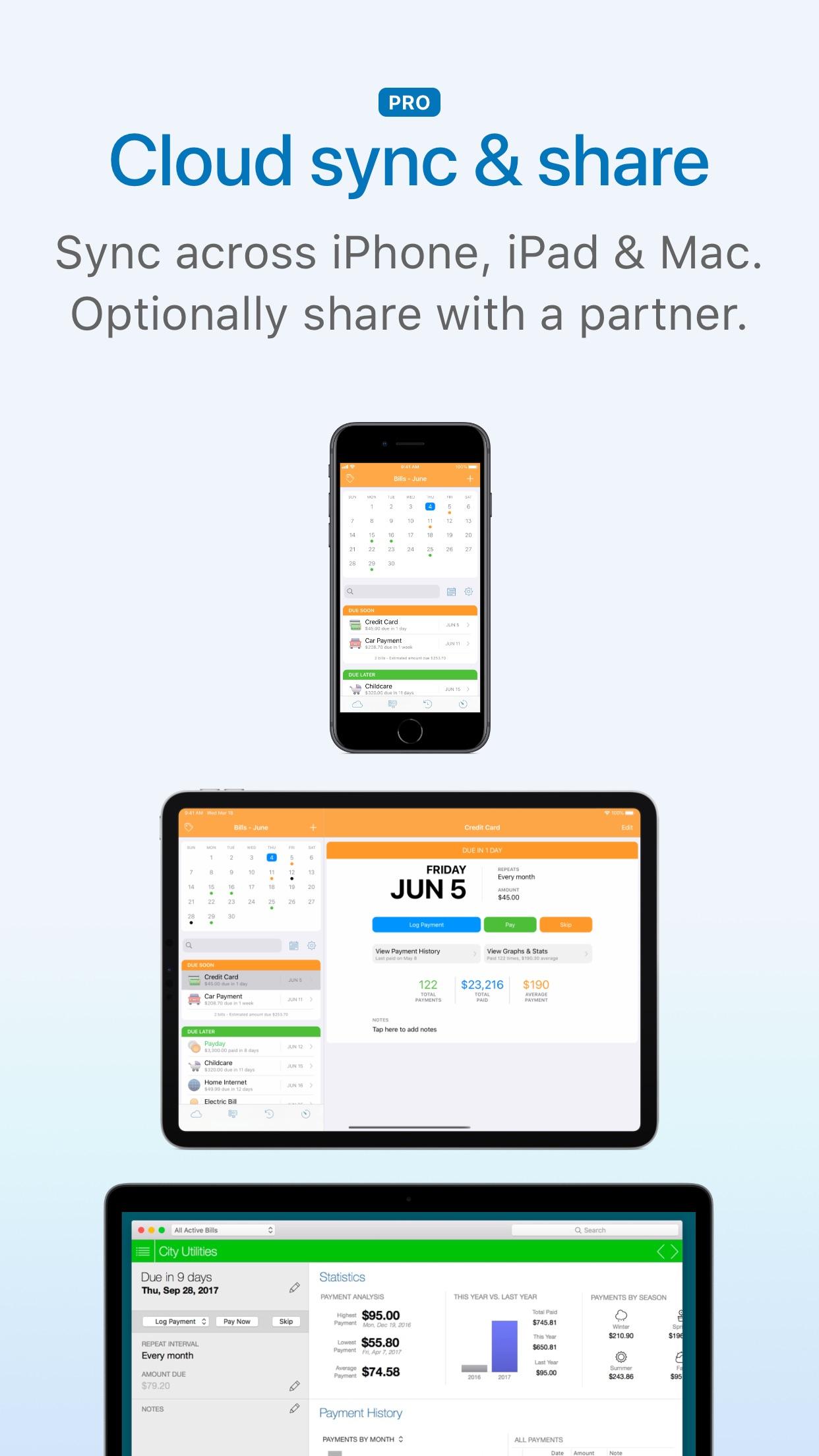 Screenshot do app Chronicle - Bill Organizer