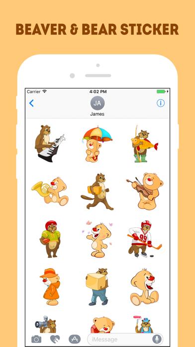 Screen Shot The Beaver and Bear Emojis 1