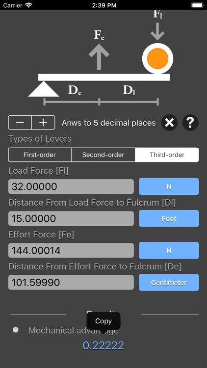 Levers Calculator screenshot-7