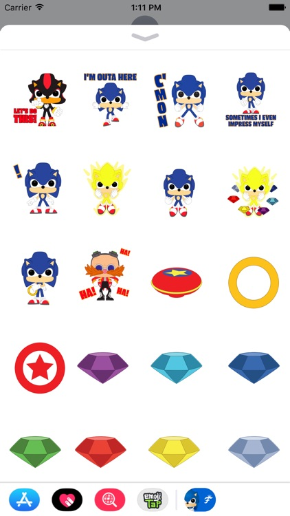 Sonic POP! Stickers by Funko