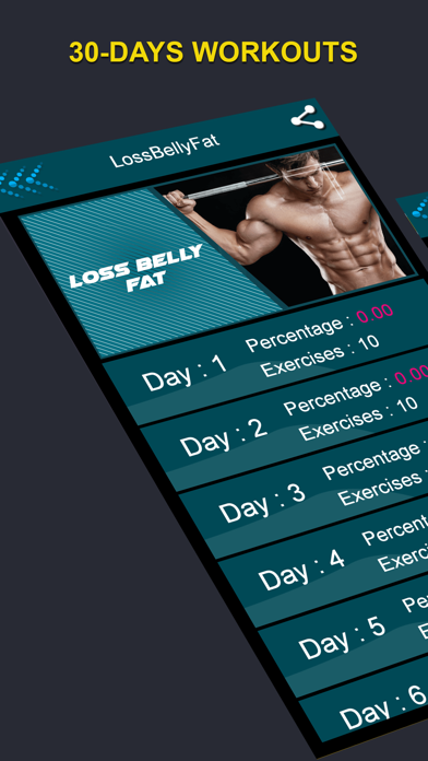 SixPackABS Daily Body Building screenshot one