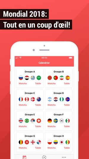 Calendrier Du Mondial.Mondial 2018 Calendrier Buts Dans L App Store