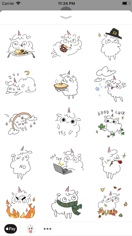 Fluffcorn Animated Stickers screenshot-1