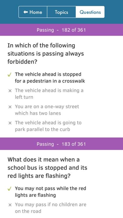 Florida Driving Permit Test screenshot-4