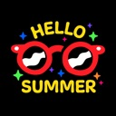 Hello Hot Summer Fun Stickers