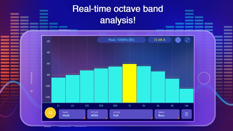 Audio Spectrum Analyzer dB RTA