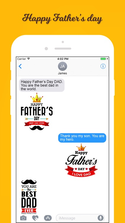 Funny Father's Day Stickers screenshot-3