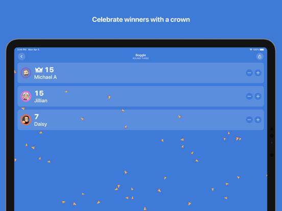 Ipad Screen Shot Scorecard: Point Tracker 5