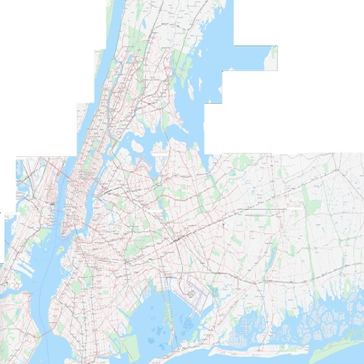 NYC Scaled Subway Map Offline