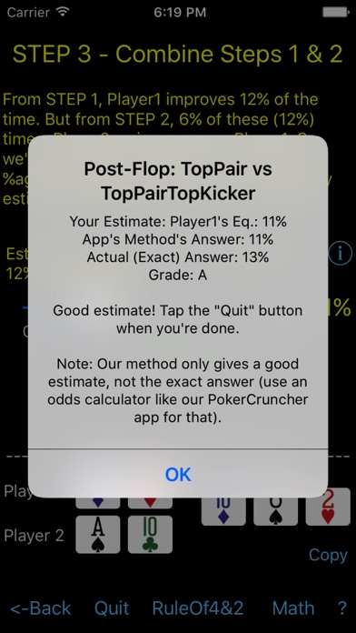 Poker Odds Teacher review screenshots