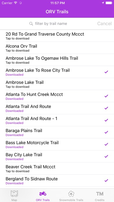 Screenshot for Michigan Offroad Trail Map in United States App Store