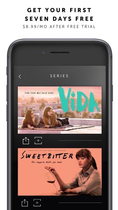 Screenshot of STARZ App