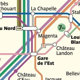 Paris Metro Map + Bus & RER