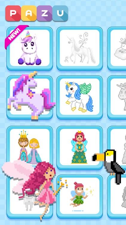 Pixel art coloring for kids screenshot-3