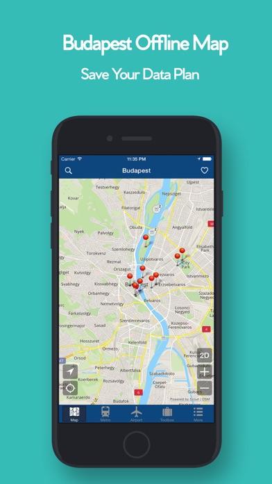 布達佩斯的離線地圖 - 城市 地鐵 機場屏幕截圖1