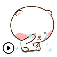 Animated Clumsy Bear Sticker