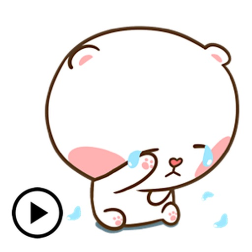 Animated Clumsy Bear Sticker