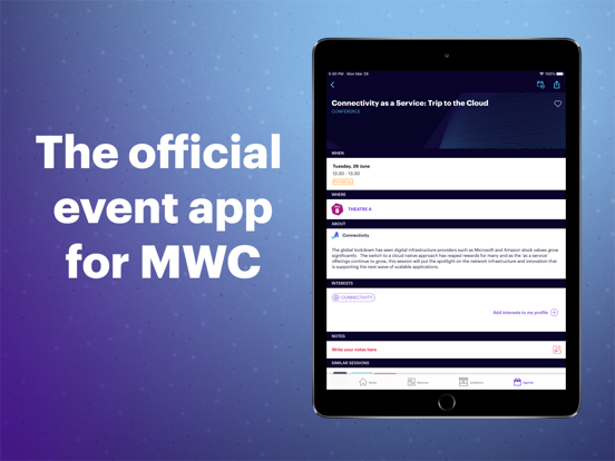 Screenshot #6 pour MWC21 – Official GSMA MWC App