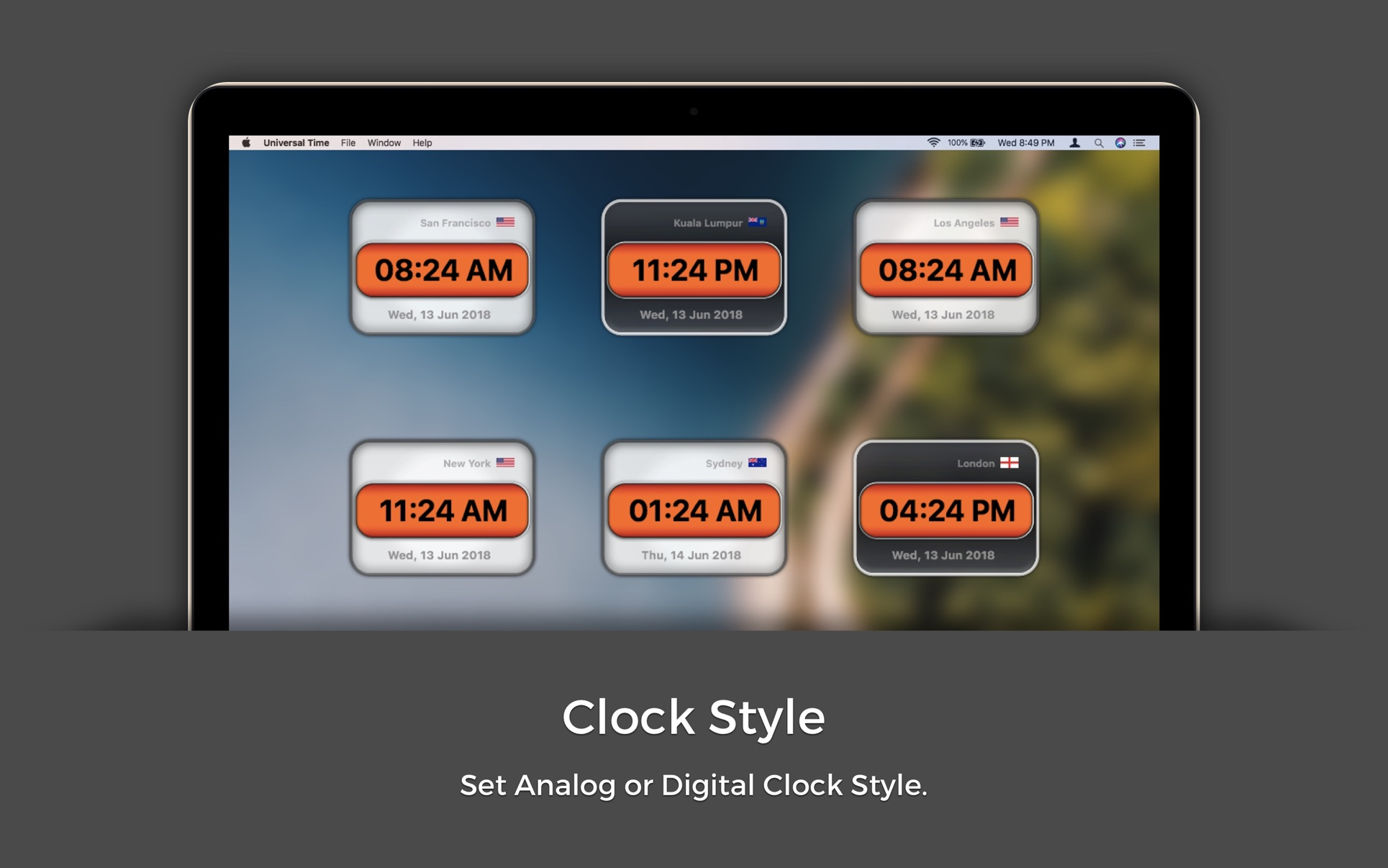 Universal Time on the MacAppStore