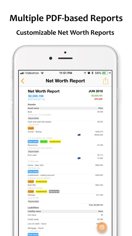 Net Worth Pro 2 screenshot-7
