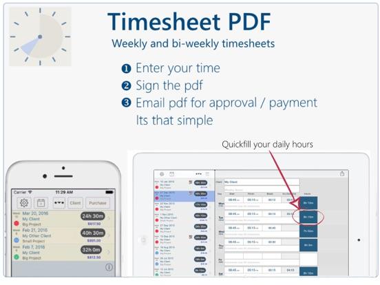 timesheet pdf app price drops