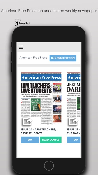 American Free Press Screenshot