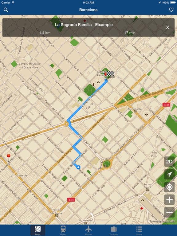Barcelona Offline Map,Metro Screenshots