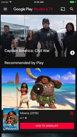 how to buy google play movies on iphone