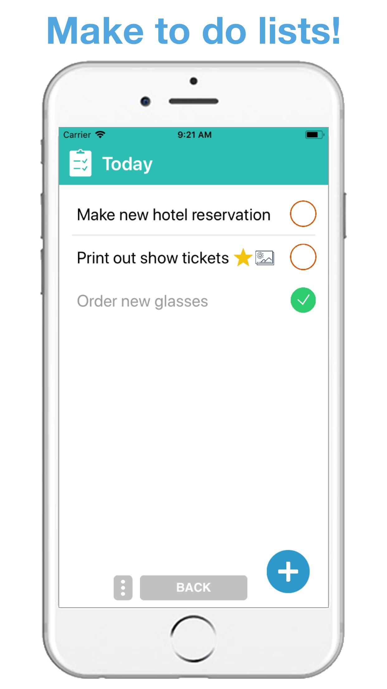 Screenshot do app Life Lists: List Organizer