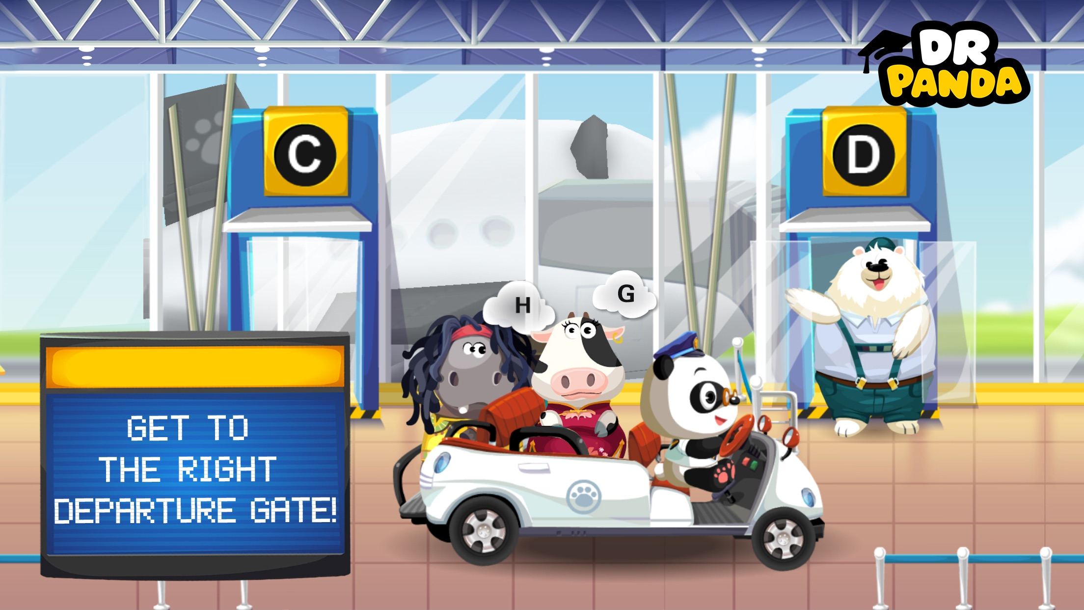 Dr. Panda Airport Screenshot