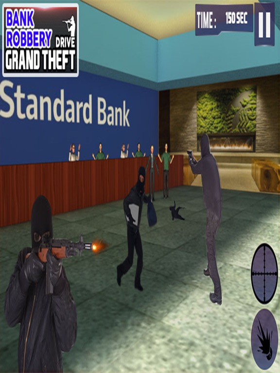 Bank Robbery 3D Police Escape-ipad-0