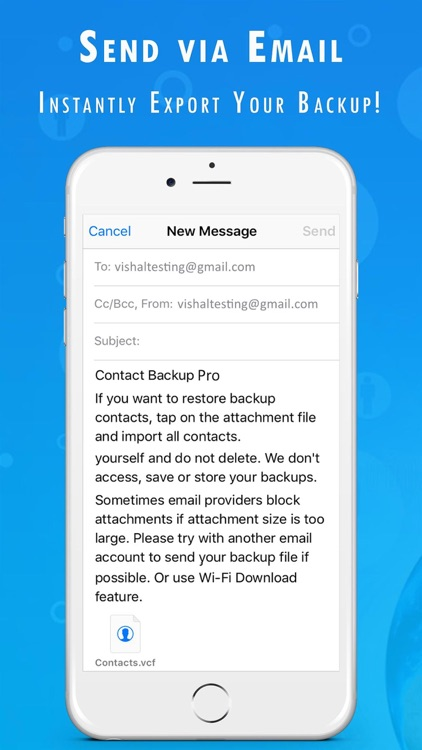 Contact Backup Pro screenshot-2