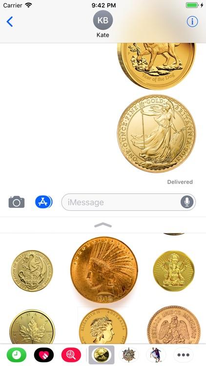 Coins Set Stickers screenshot-4