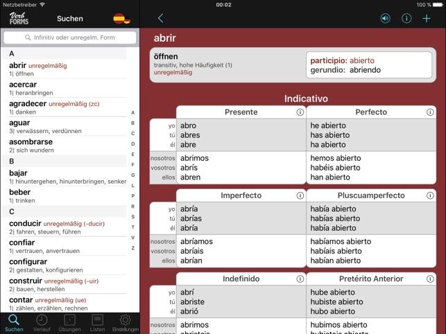 Spanisch: Verben & Konjugation im App Store