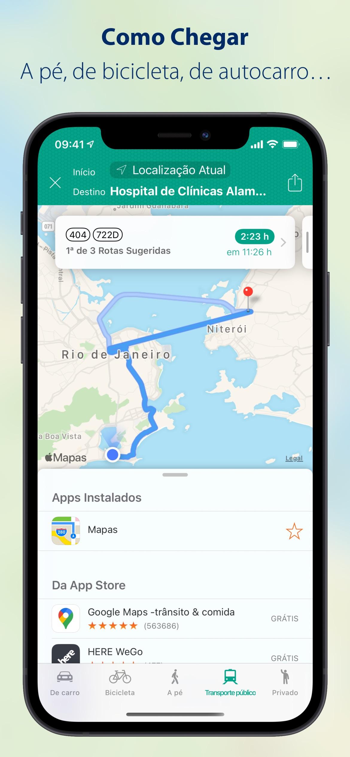 Screenshot do app Para Onde? (Where To?)