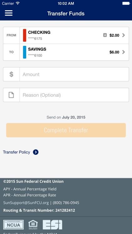 Sun Federal Credit Union screenshot-3