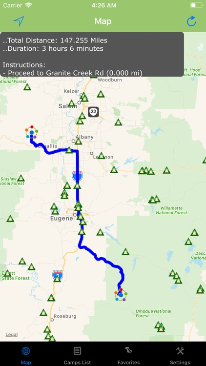 Oregon – Camping & RV spots screenshot-2