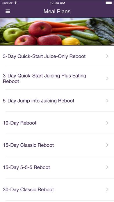 Reboot with Joe Juice Diet App Screenshot