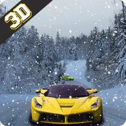 Real Snow Hill Car Drift Race