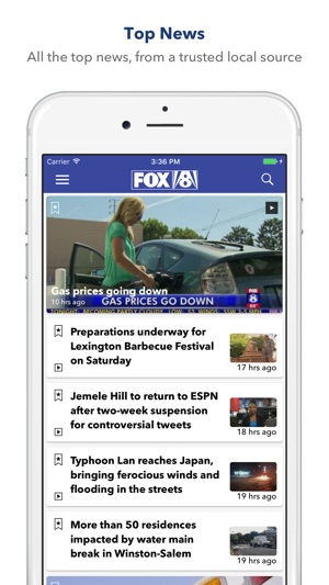 MY FOX8 on the App Store