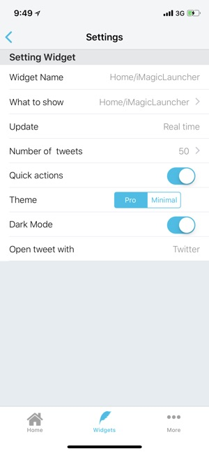 Tweety Pro Widgets for Twitter Screenshot