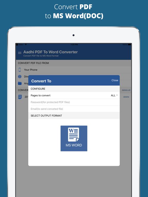 Aadhi PDF to Word Converter screenshot 7