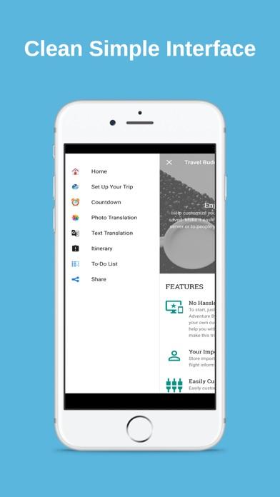 My Travel Buddy App screenshot one
