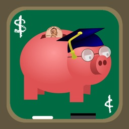 Professor Piggy Bank -US Coins